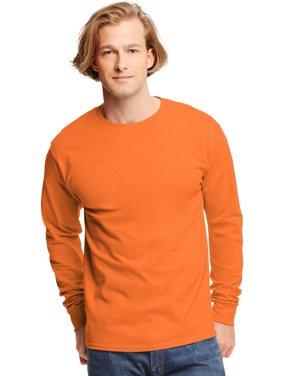 Hanes TAGLESS Men`s Long-Sleeve T-Shirt - Best-Seller, 5586, 2XL