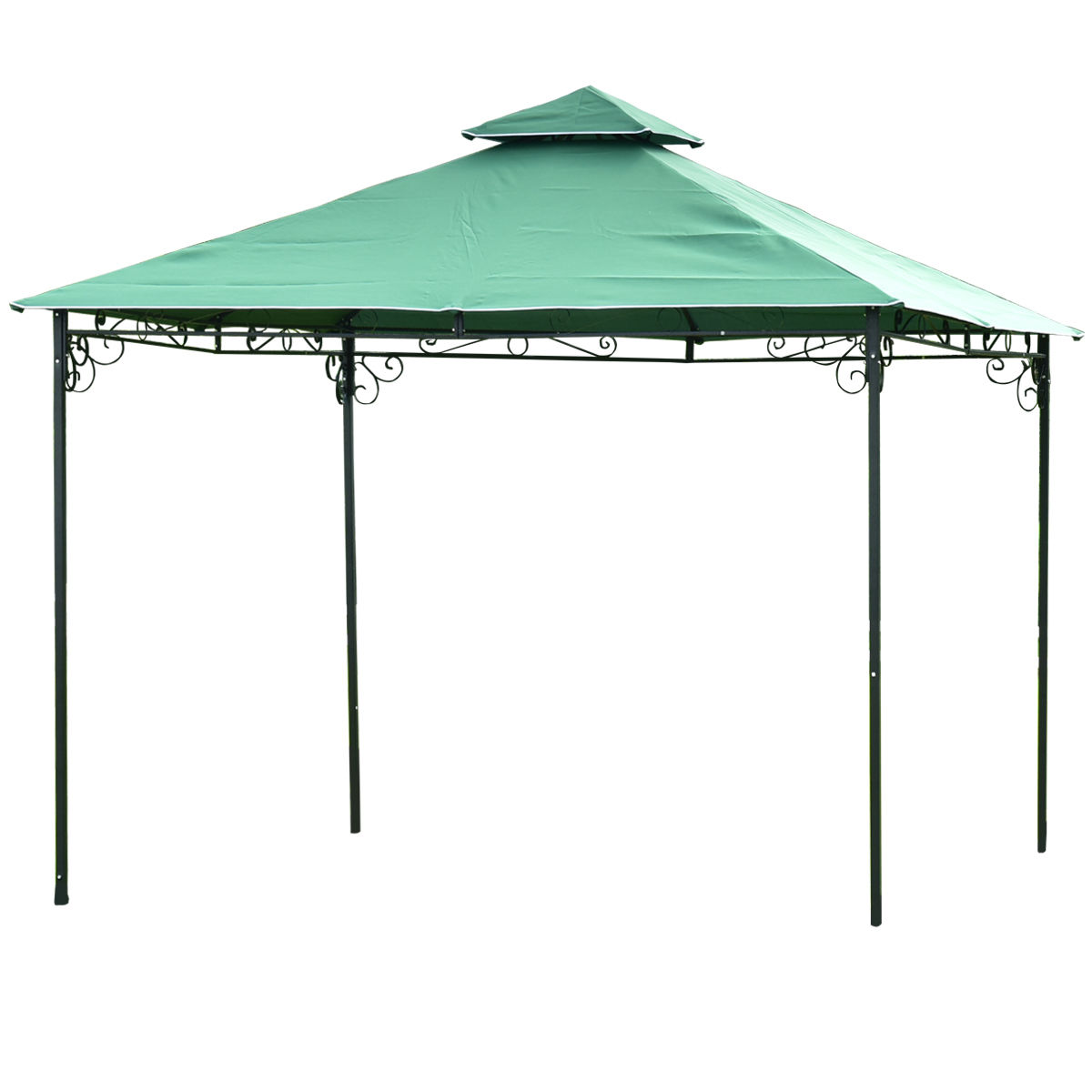 Gymax 2 Tier 10'x10' Patio Outdoor Tent Gazebo Canopy Shelter