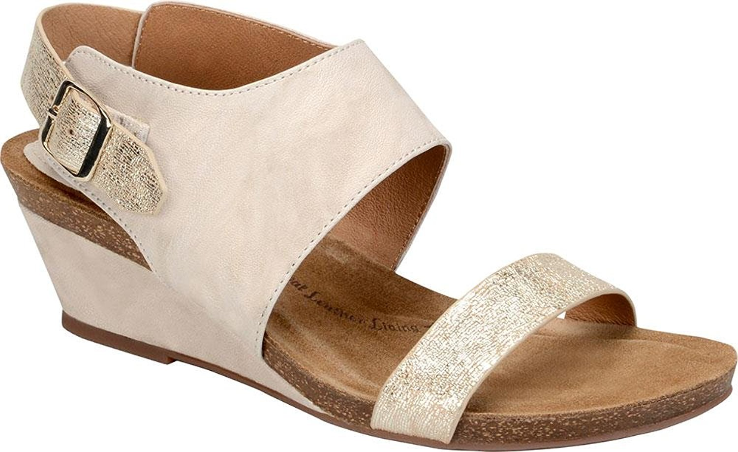 Sofft Womens Vanita Leather Open Toe Casual Slingback Sandals by Sofft