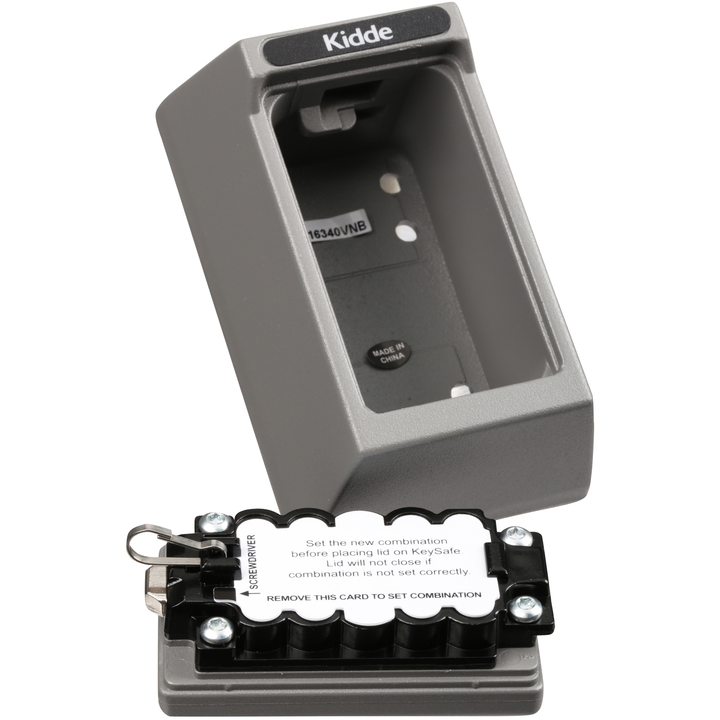 Kidde Keysafe 5 Key Keysafe Permanent Mount Combination Keybox Titanium  Plated