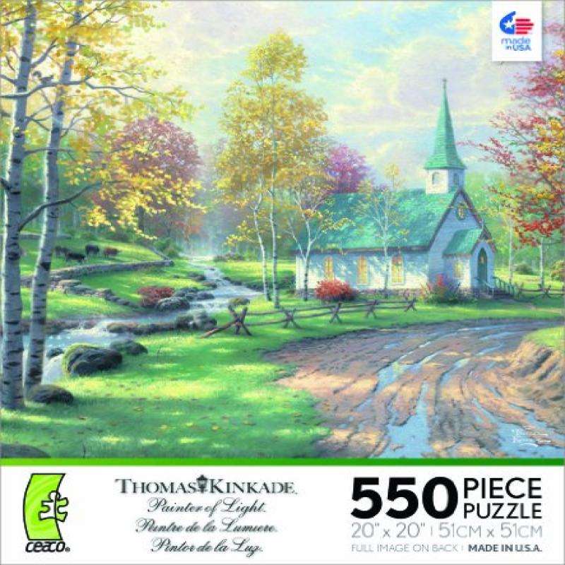 Ceaco Thomas Kinkade Aspen Chapel Jigsaw Puzzle