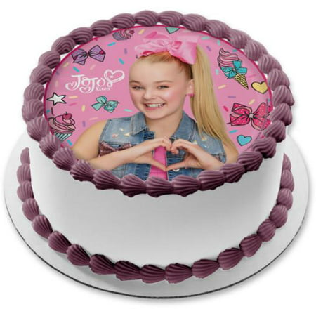 Jojo Siwa Ice Cream Hairbows Cupcakes Edible Cake Topper Image  8