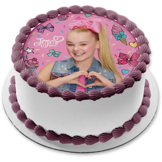Magnificent Jojo Siwa Ice Cream Hairbows Cupcakes Edible Cake Topper Image 8 Funny Birthday Cards Online Elaedamsfinfo