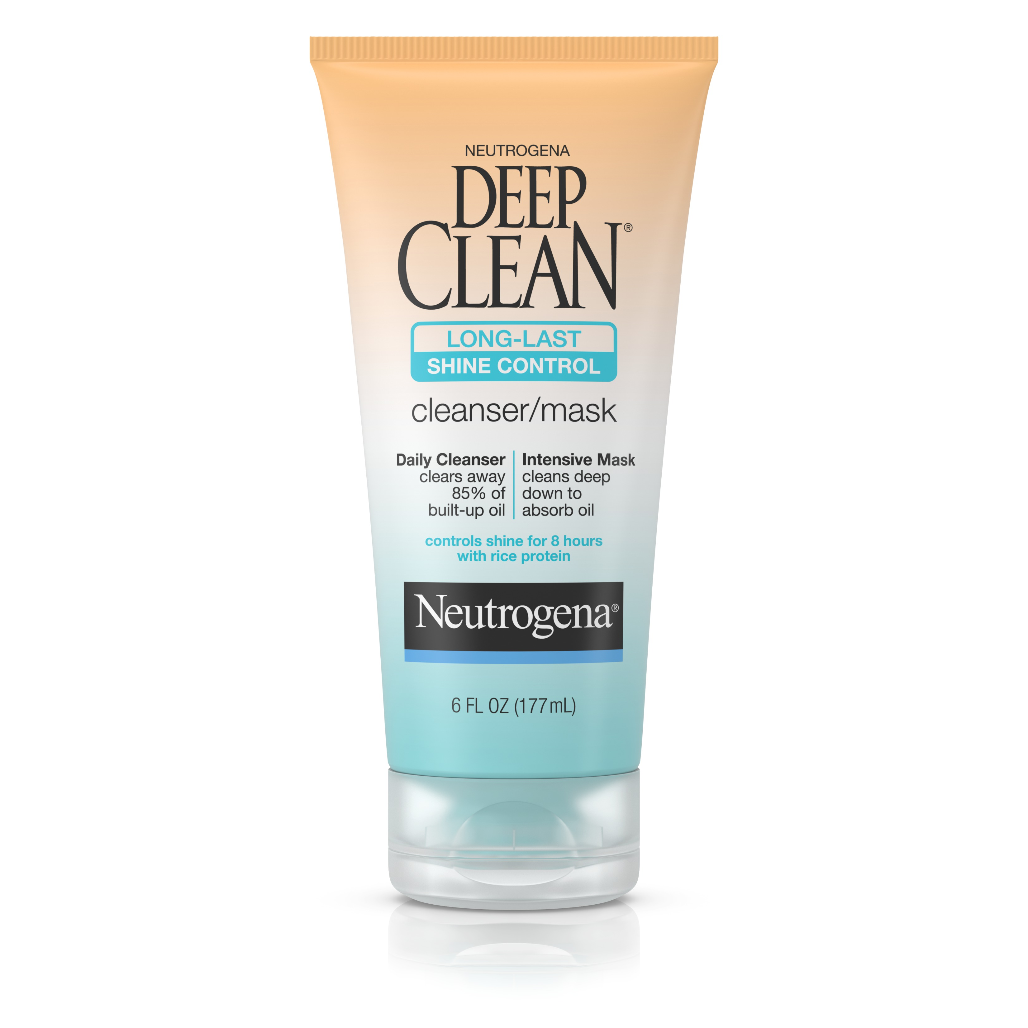 Neutrogena Deep Clean Long-Last Shine Control Facial Cleanser/Mask, 6 Fl. Oz.