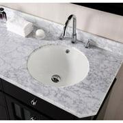American Imaginations American Imaginations Ceramic Circular Undermount Bathroom Sink with Overflow