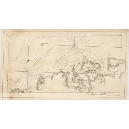 LAMINATED POSTER [Long Island Sound from Hampstead Bay to Huntington Bay] POSTER PRINT 24 x 36