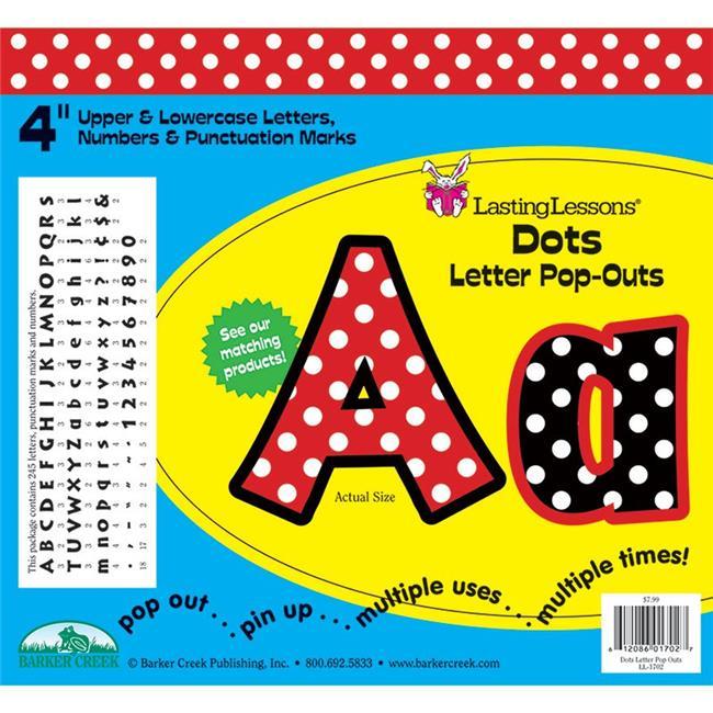 Barker Creek LAS1702BN Dots Letter Pop-Outs - Pack of 3 - image 1 de 1