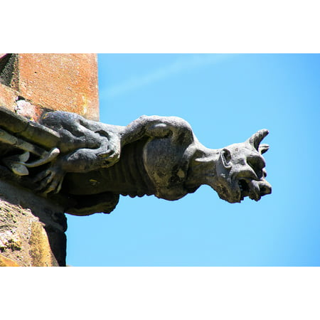 Framed Art For Your Wall Architecture Cathedral Sculpture Statue Gargoyle 10x13 Frame