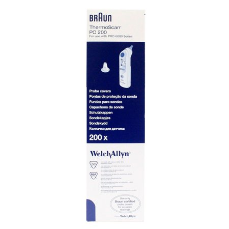 Welch Allyn Braun Thermoscan Pro 6000 Ear Thermometer Probe Covers - Box of -