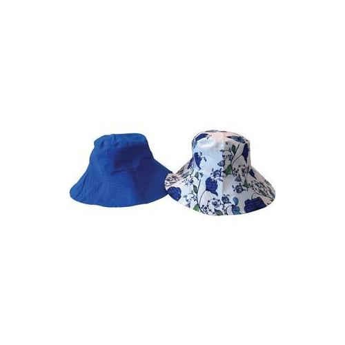Fashion Flip Reversible Sun Hat Blue (Pack of 18)