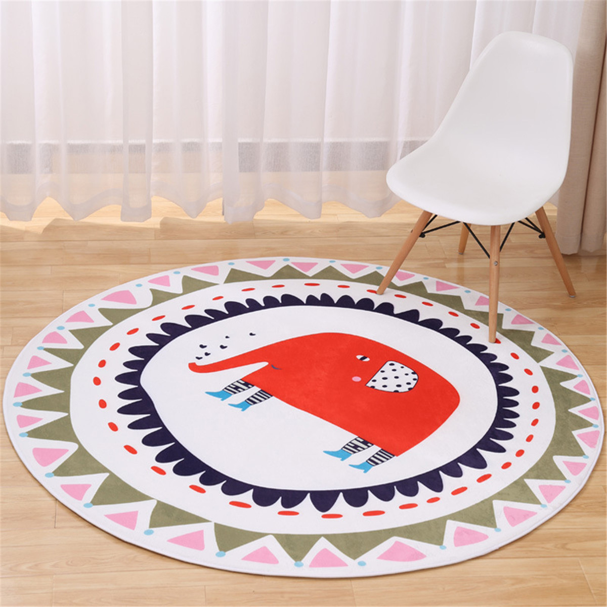 Picture of: Round Rugs Baby Rug Nursery Rugs Cartoon Elephant Home Decoration Area Rugs Bedroom Living Room Carpet Mat Baby Crawling Mats Kids Play Mat Machine Washable Rugs 39inch Max Walmart Com Walmart Com