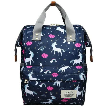 Vbiger Diaper Bag Splash-proof Nappy Bag Large-capacity Nursing Backpack Travel Shoulders Bag for Mommy and Student,