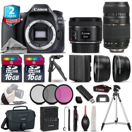 Canon EOS 80D Camera + 50mm 1.8 STM & 70-300mm + Extra Battery + 2yr