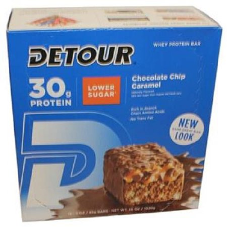 Product Of Detour Lower Sugar, Chocolate Chip Caramel, Count 12 - Nutrition Bar With Protein / Grab Varieties & Flavors