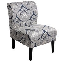 SmileMart Comfortable Upholstered Accent Chair Modern Armless Sofa Chair, Sapphire