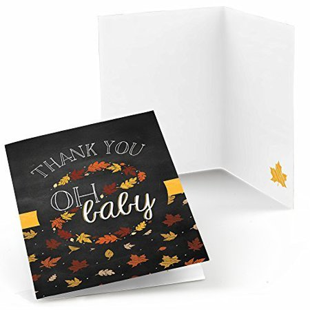 oh baby fall baby shower thank you cards 8 count