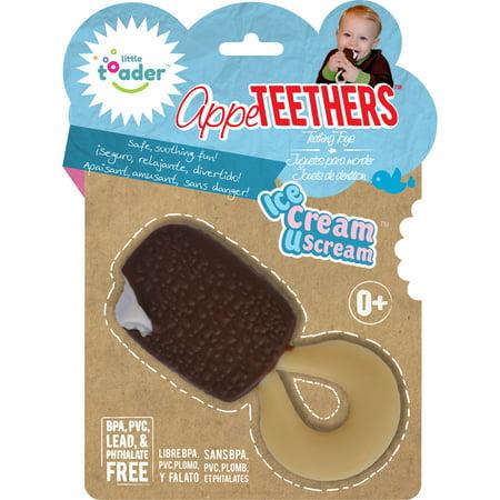 Little Toader Appe Teethers Ice Cream U Scream Teething Toys - X Scream Cream