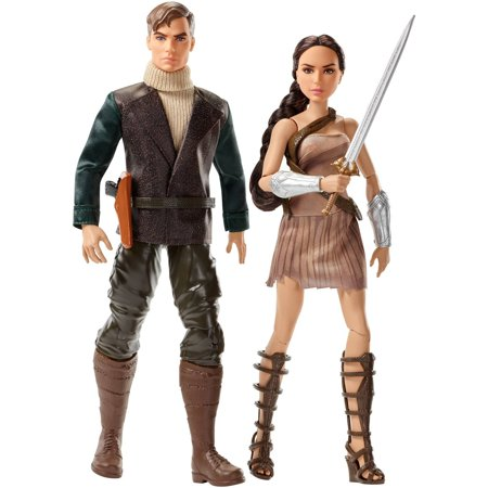 DC Comics Wonder Woman and Steve Trevor Doll 2-Pack