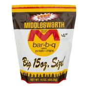 Middleswarth Bar-B-Q Potato Chips Big Size, 15 Oz.