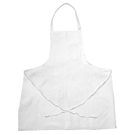 Chef Revival 34   X 34   Bib Apron  White  One Size Fits All   600Baw