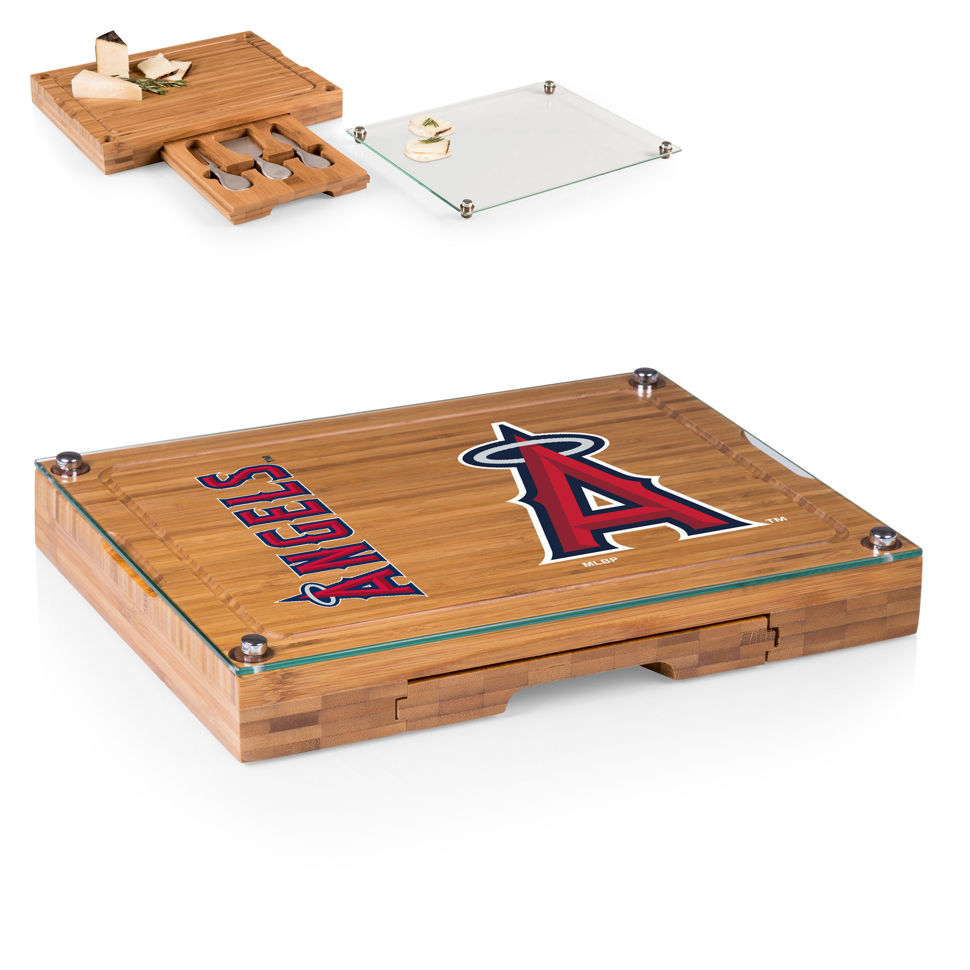 Los Angeles Angels Concerto Cheese Board with Serving Stage and Tools - No Size