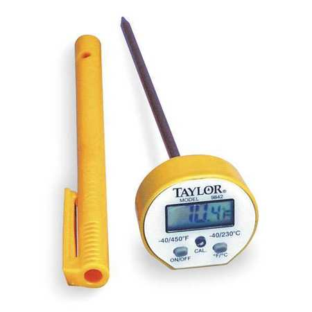 TAYLOR 9842 Digital Pocket Thermometer, LCD, 5 In L