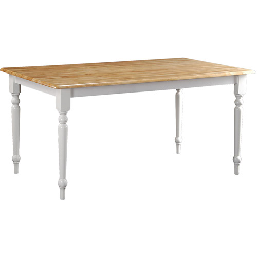 Boraam Farmhouse Dining Table, White/Natural