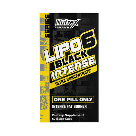 Nutrex Research Lipo-6 Black Intese Ultra Concentrate Fat Burner, 60 Ct