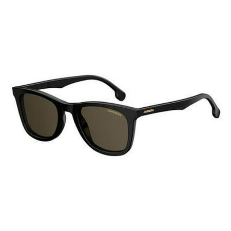 Carrera Plastic Rectangular Sunglasses 51  0807 Black (70 brown lens) 51 / 0807 Black (70 brown
