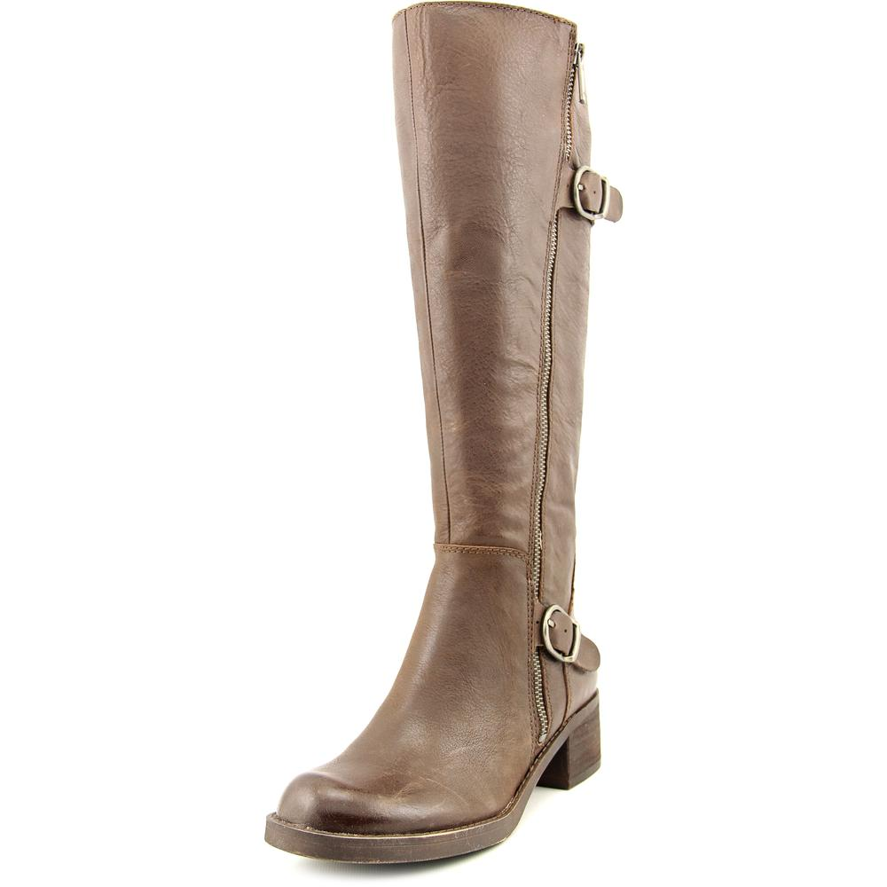 Lucky Brand Hoxy Women  Round Toe Leather Brown Knee High...