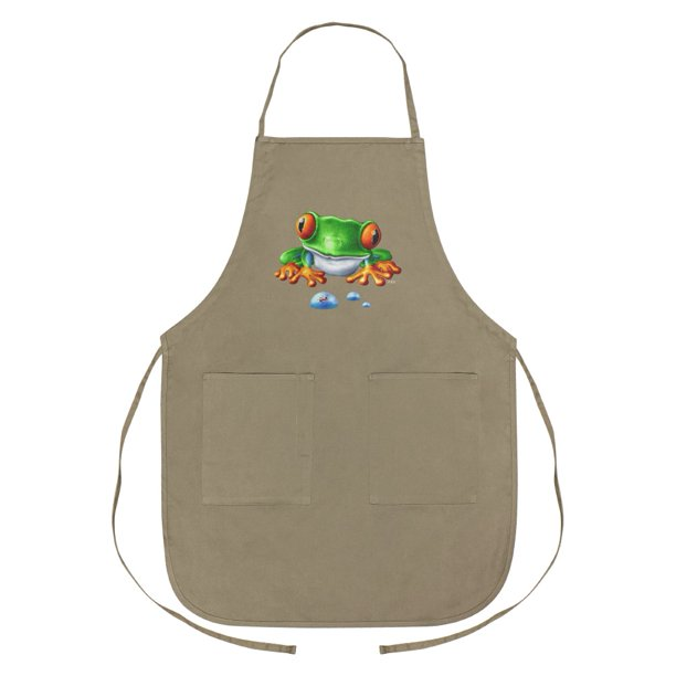 Rainforest Red Eyed Tree Frog And Ant Apron With Pockets Walmart Com
