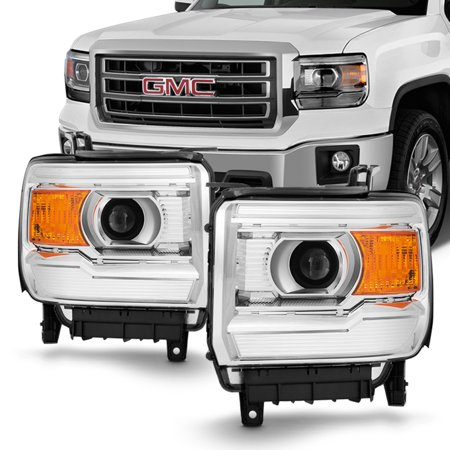 fit 2014 2015 gmc sierra 1500 2500hd 3500hd projector headlights replacement. Black Bedroom Furniture Sets. Home Design Ideas
