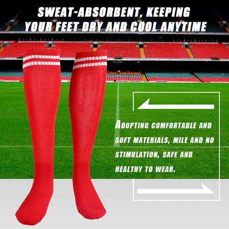 WALFRONT 1 paire de chaussettes respirantes anti-dérapantes sur le genou pour les sports de randonnée en plein air, les chaussettes de football et de football - image 6 de 8