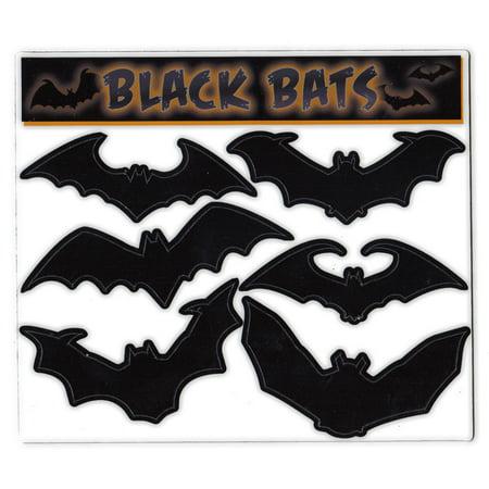 Magnet Variety Pack (6 Magnets) - Black Bats (Halloween) - Refrigerators, Cars, Mailboxes, Decoration - 3