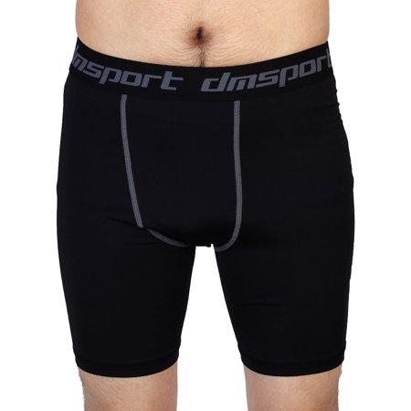 Men Sport Apparel Compression Tights Basketball Running Shorts Black