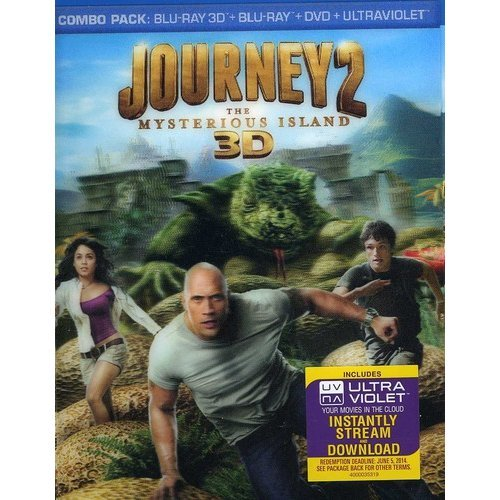 Journey 2: The Mysterious Island (3D Blu-ray + Blu-ray + DVD) (With INSTAWATCH) (Widescreen)