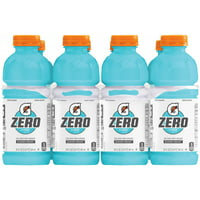 Gatorade G Zero Thirst Quencher, Glacier Freeze, 20 oz Bottles, 8 Count