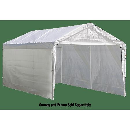 "ShelterLogic Max AP 10' x 20' White Canopy Enclosure Kit Fits 1-3/8"" Frame"