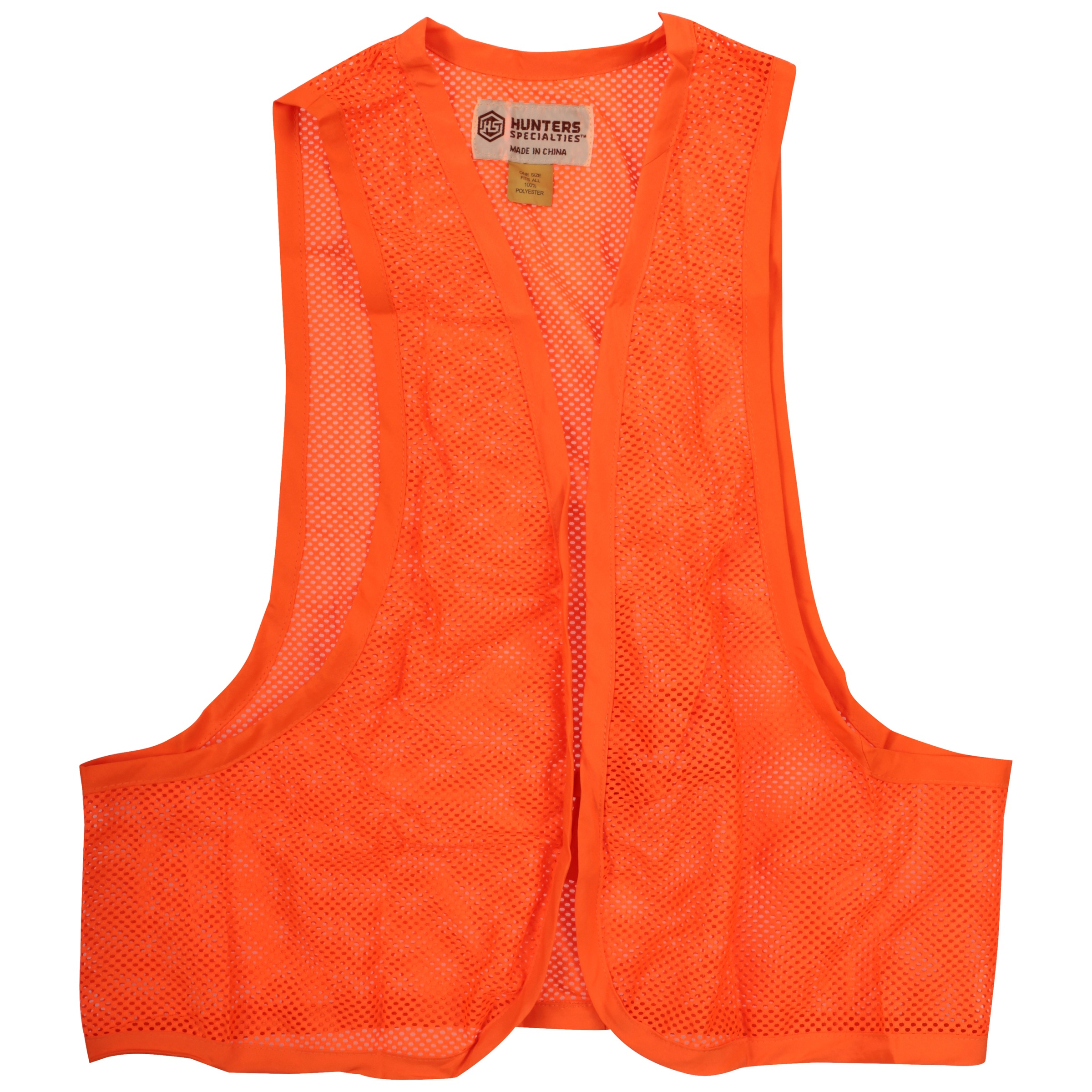 Hunters Specialities Blaze Orange Mesh Safety Vest by Hunters Specialties