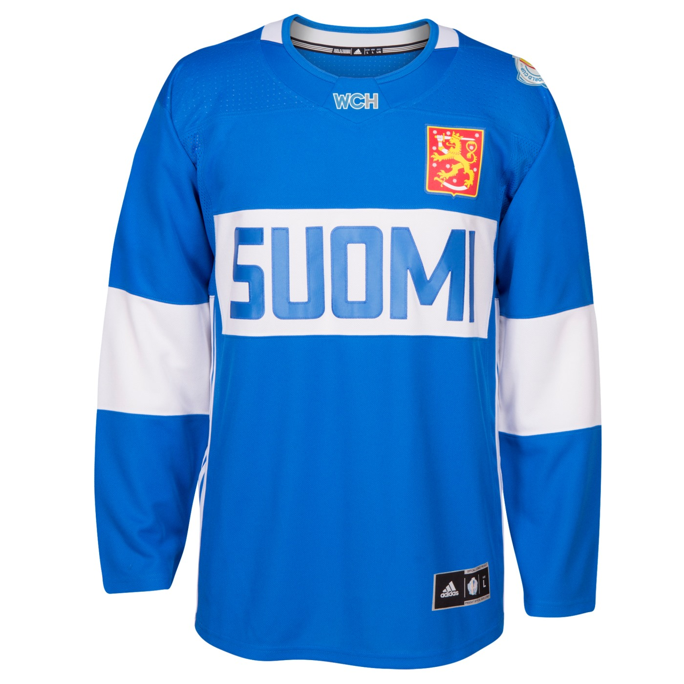 Team Finland 2016 World Cup of Hockey Adidas Men's Premier Blue Jersey