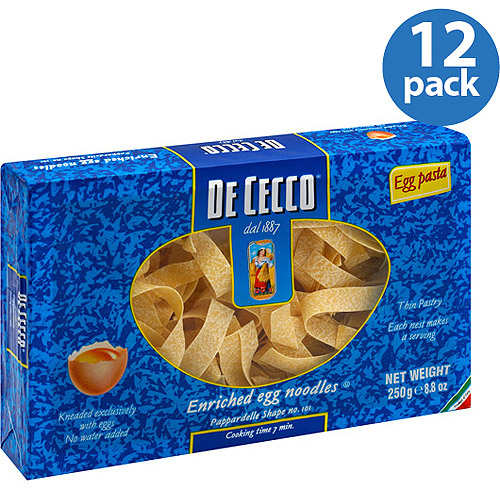 De Cecco Pappardelle Egg Pasta, 8.8 oz, (Pack of 12)