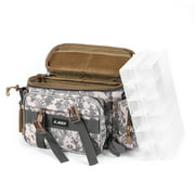 Multifunctional Fishing Tackle Bag Outdoor Sports Single Shoulder Bag Crossbody Bag Waist Pack Fishing Lures Tackle Gear Utility Storage Bag with 2 Fishing Tackle Box Utility Case