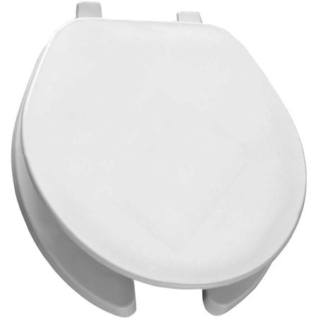 75 000 Round Open Front Toilet Seat, White, Fits all manufacturers' round bowls By Bemis (000 Bowls)
