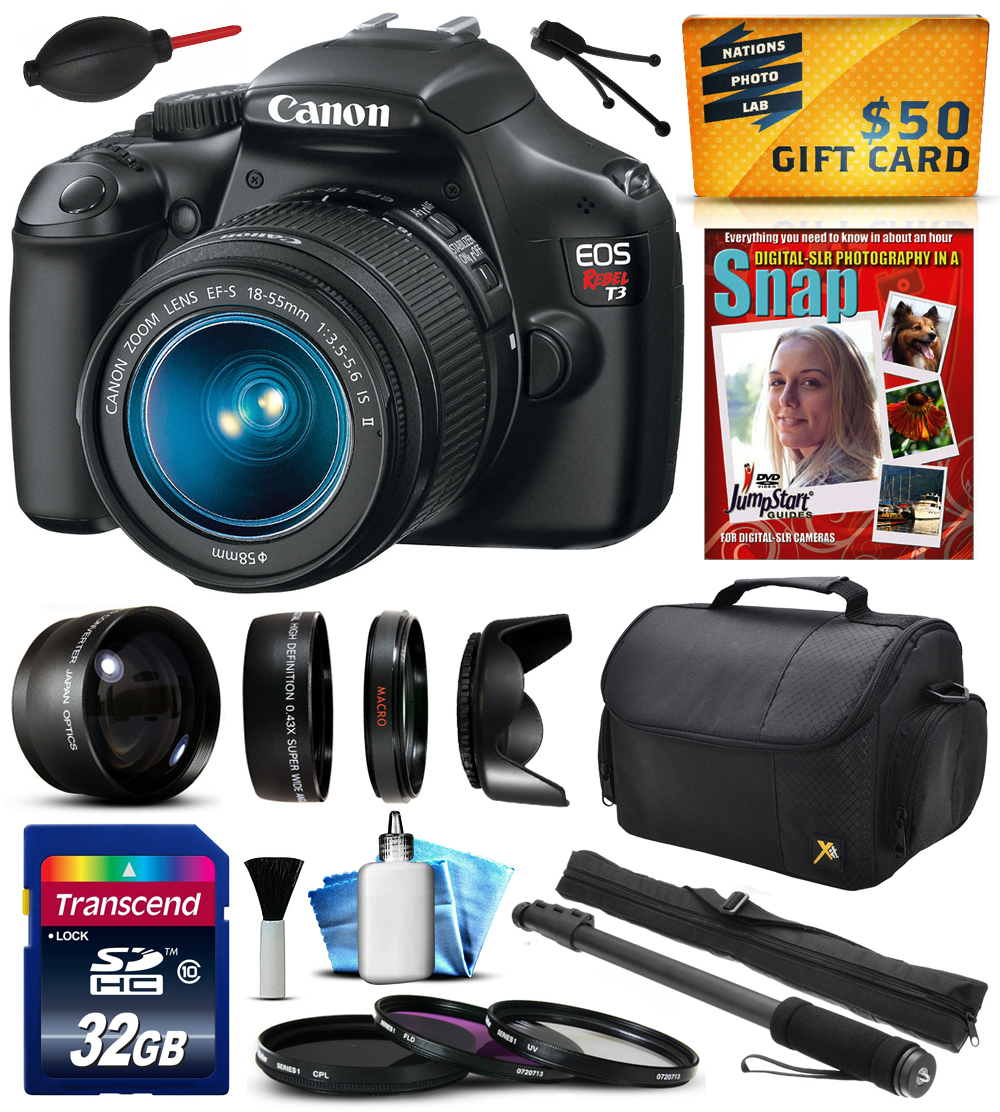 Canon EOS Rebel T3 1100D Digital Camera with 18-55mm Lens...
