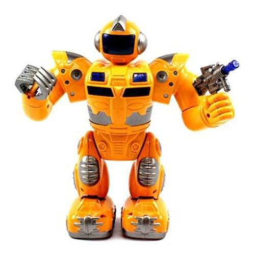 VT Super Robot Battery Operated Toy Figure Flashing Lights, Plays Sounds (Colors May Vary) by Velocity Toys