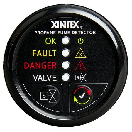 Fireboyxintex P-1BNV-R Xintex Propane Fume Detector W/automatic Shut-off & Plastic Sensor - No Solenoid Valve - Black Bezel Display