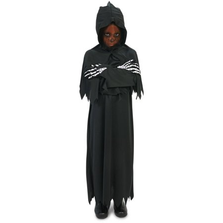 Hooded Dark Grim Reaper Child Halloween Costume - Grim Reaper Decorations