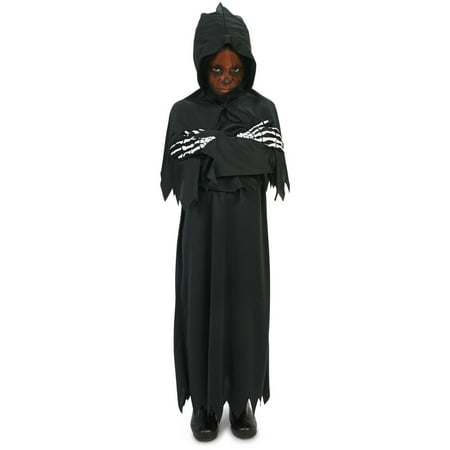 Hooded Dark Grim Reaper Child Halloween Costume](Female Grim Reaper Costume)