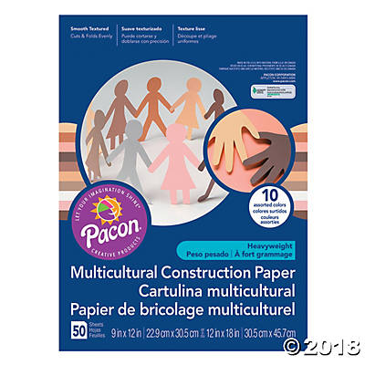 Pacon® Multicultural Construction Paper(pack of 3)