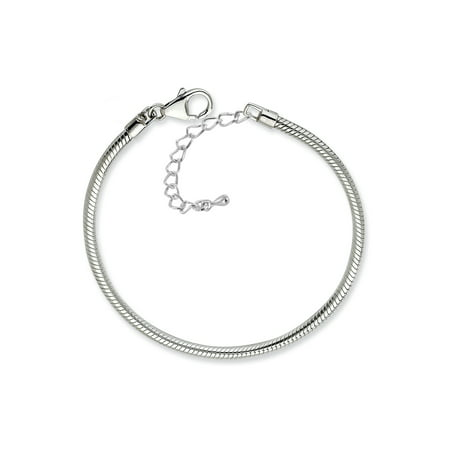 Pacific Charms Silver Plated 7.5 Inch Bracelet with 2 Inch Extension - Charms For A Charm Bracelet